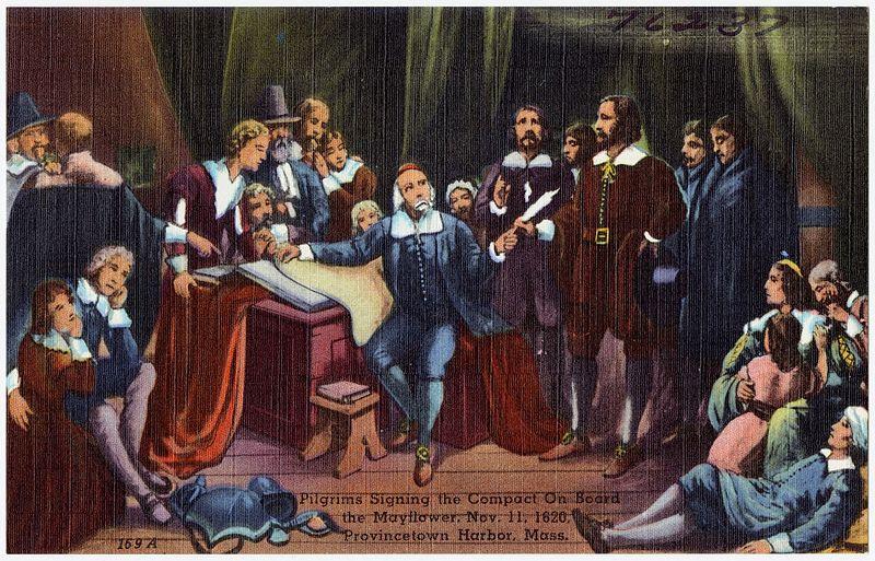 Pilgrims on Mayflower